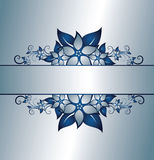 Silver floral frame Royalty Free Stock Image