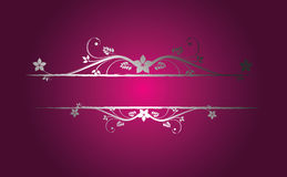 Silver floral frame. In retro style Royalty Free Illustration
