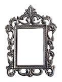Silver floral frame Stock Photos