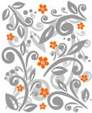 Silver floral pattern Stock Image
