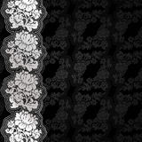 Silver flowers on background Royalty Free Stock Photography