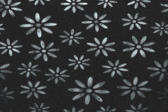 Silver flowers on black background Royalty Free Stock Photo
