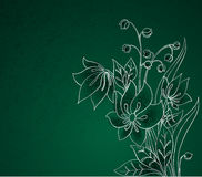 Silver flowers on green Stock Photography