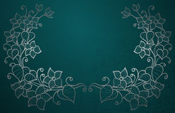 Silver flowers on green Royalty Free Stock Photo