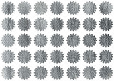 Silver flowers on white background. Royalty Free Stock Images