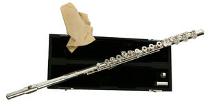 Silver Flute Stock Image