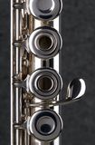 Silver Flute. Closeup image of a silver flute Royalty Free Stock Photos