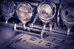 Silver Flute Stock Photography
