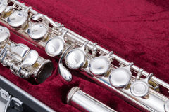 Silver flute Royalty Free Stock Images
