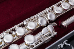 Silver flute Stock Images