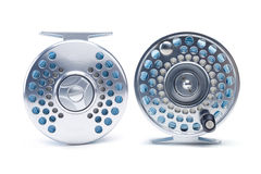Silver Fly Reel Royalty Free Stock Images