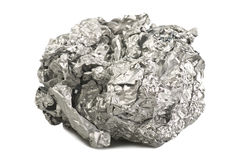 Silver foil ball Royalty Free Stock Images