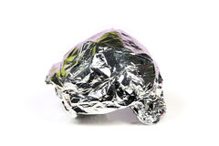 Silver foil Royalty Free Stock Photo