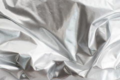 Silver Foil Fabric Royalty Free Stock Image