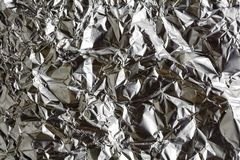 Silver foil screwed texture. And background pattern Stock Photo