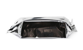Silver foil sealed package isolated Royalty Free Stock Image