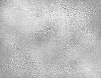 Silver foil texture, grunge background. Trendy metallic fabric sample, design element Royalty Free Stock Photo