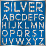 Silver Font Stock Photography
