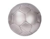 Silver football Royalty Free Stock Image