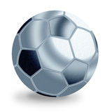 Silver football ball Royalty Free Stock Photo
