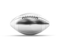 Silver football ball. 3d silver american football ball Royalty Free Stock Images