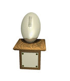 Silver football trophy Stock Image