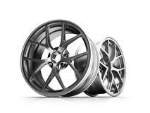 Silver Forged Alloy Car RIm Royalty Free Stock Photos