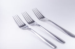 Silver fork isolated on white background Royalty Free Stock Photography