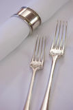 Silver forks Royalty Free Stock Photos