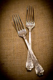 Silver Forks Stock Photos