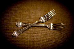 Silver Forks Royalty Free Stock Image