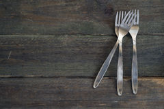 Silver forks Stock Photography