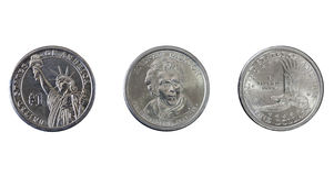 silver för myntdollar en Arkivfoton
