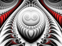Silver fractal Stock Images