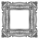 Silver Frame. Metal Frame isolated on white background, studio shot Stock Images