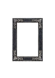 Silver frame. Isolated silver frame on a white background Royalty Free Stock Photography