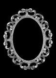 Silver frame. Isolated silver frame on a black background Royalty Free Stock Image
