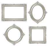 Silver frame. Set of gorgeous decorative frame. Vector illustration Stock Photos