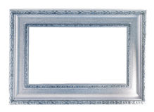Silver frame. Isolated over white background with clipping path Royalty Free Stock Image