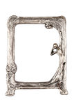 Silver frame. Picture silver frame with a decorative pattern Royalty Free Stock Images