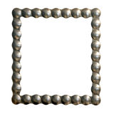 Silver frame Stock Photo
