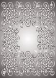 Silver frame. Celtic silver frame -  illustration Stock Image