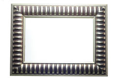 Silver frame. Frame on the white bacground Royalty Free Stock Photography