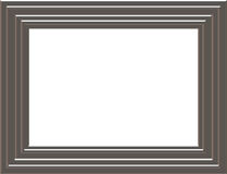 Silver frame. Silver style picture frame isolated Royalty Free Stock Image