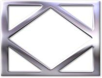Silver frame with bevel stock illustration
