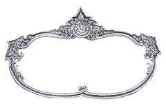 Silver frame. Silver frame carve  on white background, work with path Royalty Free Stock Photo