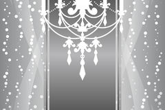 Silver frame with chandelier Royalty Free Stock Images