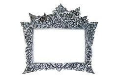 Silver Frame  (This is an element in the Thai Temple, Public area ) Stock Photography