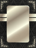 Silver frame with floral elements 11 Stock Image