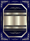 Silver frame with floral elements 16. Silver frame with floral elements for your design Royalty Free Stock Image
